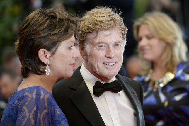 Robert Redford and Sibylle Szaggars
