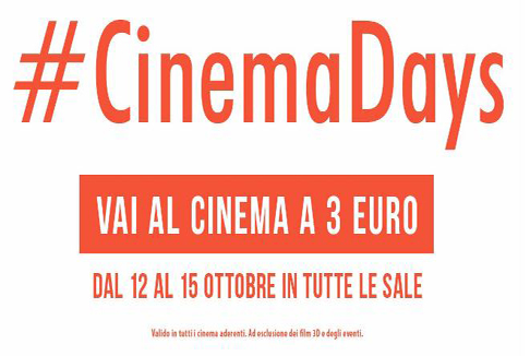 #CinemaDays: al cinema a 3 euro