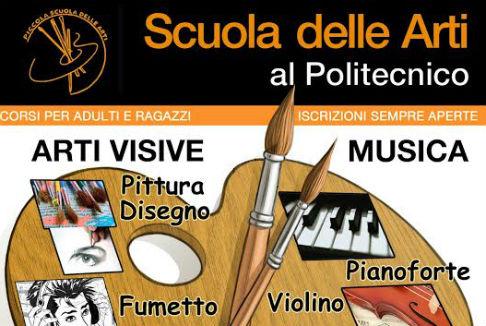 Scuola Arti al Politecnico di Roma: via ai nuovi corsi